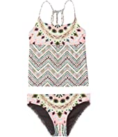Hobie Kids - Festival of Brights Tankini and Hipster (Big Kids)