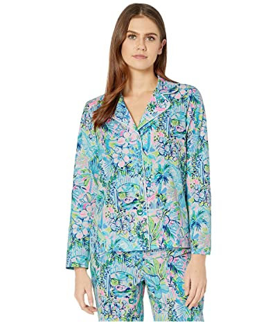 Lilly Pulitzer PJ Woven Top (Multi Lillys House) Women