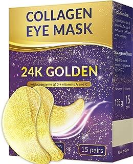 24k gold eye mask - Under Eye Patches - Under Eye Bags Treatment - Collagen Eye Mask - Hyaluronic acid eye mask - Reducing Dark Circles - Eye gel patches - Vitamin C eye mask - Hydrogel patches