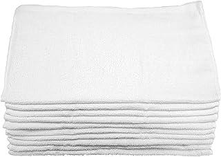 綿100% 乾きの良い フェイスタオル 白 10枚組 34×80cm