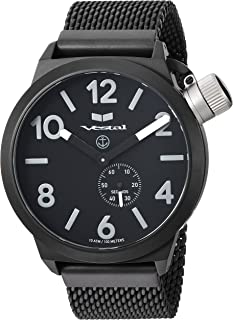 Vestal 'Canteen Metal' Quartz Stainless Steel Casual Watch, Color Black (Model: CNT453M06.MBKM)