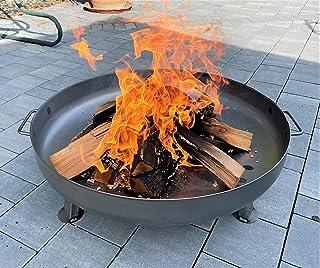 Czaja Stanzteile Feuerschale Bonn Durchmesser 80 cm - mit Wasserablaufbohrung - Feuerschalen für den Garten, Terrasse und Balkon, Feuertonne und Feuerkorb , große Feuerstelle für den Garten
