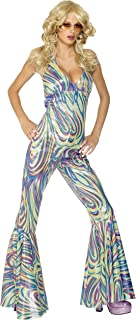 Smiffy's Women's Dancing Queen Halterneck Catsuit Costume
