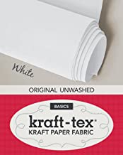 "kraft-tex White Original Unwashed: Kraft Fabric Paper, 19"" x 1.5 Yard Roll (kraft-tex Basics)"