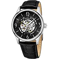 "Stuhrling Original Mens""Specialty Atrium"" Skeleton Automatic Self Winding Dress Watch with..."