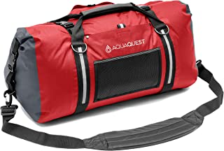 Aqua Quest White Water Duffel - 100% Waterproof Bag 50L, 75L & 100L - Lightweight, Durable, External Pockets - Black, Charcoal, Red, Blue, Gray or Camo