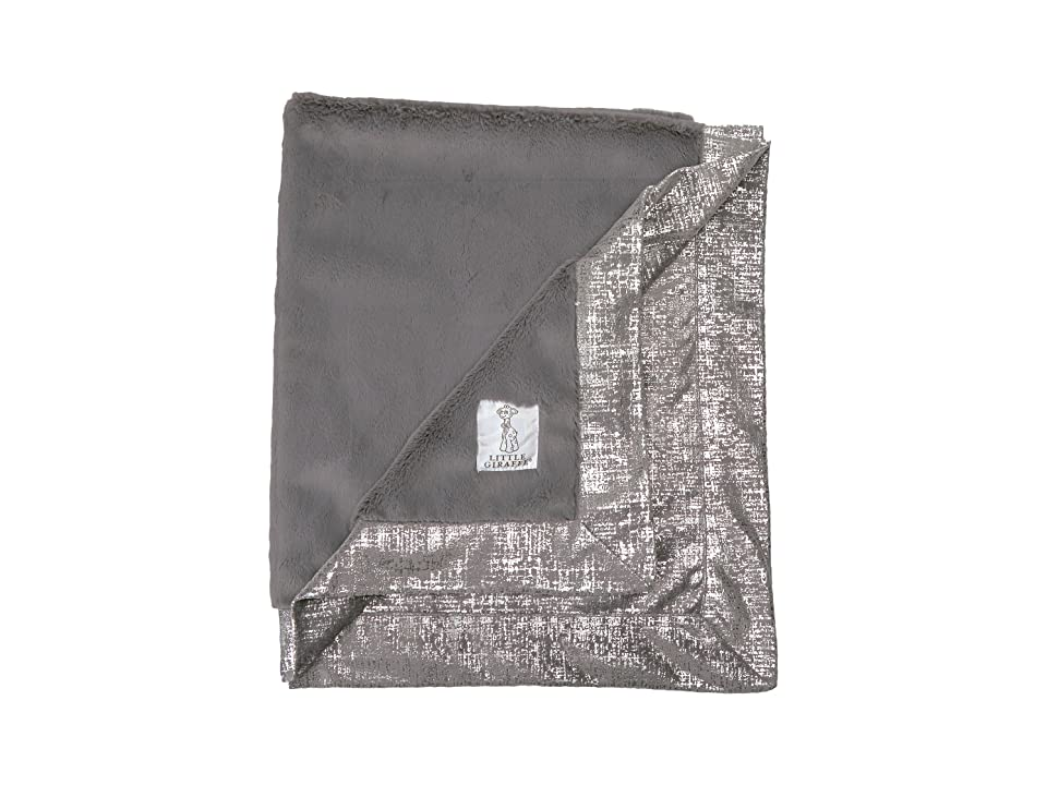 Little Giraffe Luxe Lustretm Rain Chamois Blanket (Charcoal) Accessories Travel, Gray