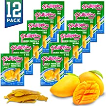 Philippine Brand Dried Mangoes Fruit Snacks {12 PACK} All Naturally Gluten Free, Vegan, Hand-Selected Delicious Fresh Mang...