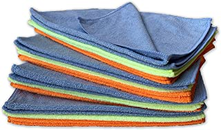 "Armor All Microfiber Cleaning Cloth, Premium Microfiber Towel Value Pack, 11.8"" x 15"" (8 Orange, 8 Blue, 8 Yellow) 24 Pack..."