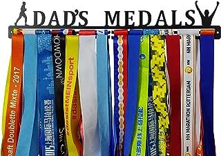 Crownyard Running Medal Holder - Dad's Medals Display Black   Medal Hanger Unique for Running Dad