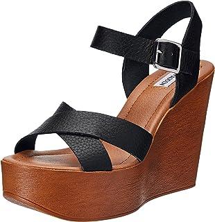Womens Piranna Leather Open Toe Casual Platform Sandals