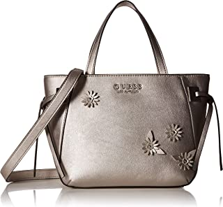 GUESS womens Lizzy Metallic Satchel