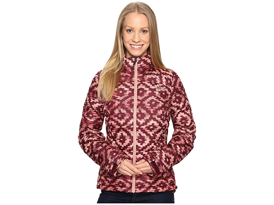 The North Face Nuptse 2 Jacket (Deep Garnet Red D-Kat Print (Prior Season)) Women