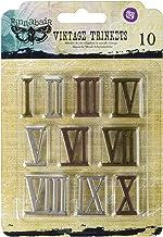 SUPVOX n/úmeros Romanos de Madera 1 a 12 Discos de Madera Adornos para DIY artesan/ía decoraci/ón Pantallas 7 cm 12 Piezas