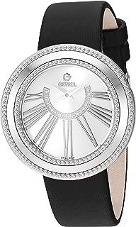 Women's Fifth Avenue Stainless Steel Swiss Quartz Watch with Satin Strap, Black, 18 (Model: 3240.1)