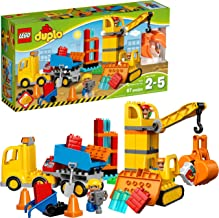 LEGO DUPLO Big Construction Site 10813 Building Set with Toy Dump Truck, Toy Crane and Toy Bulldozer for a complete Toddle...