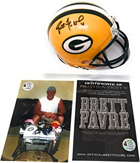 Brett Favre Green Bay Packers Signed Autograph Mini Helmet B Favre Certified