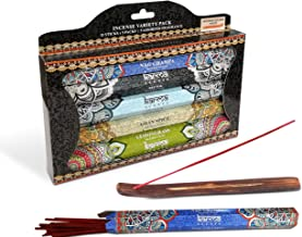 Karma Scents Premium Incense Sticks, Nag Champa, Musk, Ocean, Asian Spice and Lemongrass, Variety Gift Pack 85 Sticks, Includes a Holder - Variety Pack