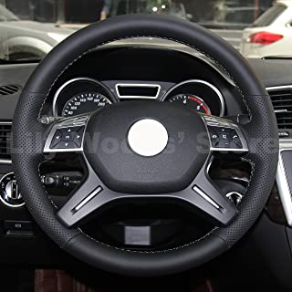 Genuine Leather Steering Wheel Cover for Mercedes Benz GL350 BlueTEC / GL450 4MATIC / GL550 4MATIC / Mercedes Benz ML250 BlueTEC 4MATIC / ML350 / ML350 4MATIC / ML400 4MATIC / ML550 4MATIC / C250 C300