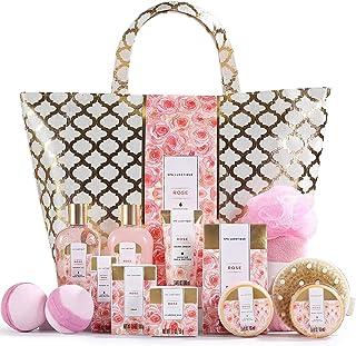 Spa Luxetique Coffret de Bain et de Soins, Coffret Cadeau pour Femme, 15 Pièces, Parfum de Rose, Bombes de Bain, Cadeau d'...