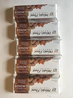 FRESH and NEW - World's Finest Chocolate - 5 boxes, 2.25oz, Continental Almonds - Chocolate Covered Roasted California Almonds