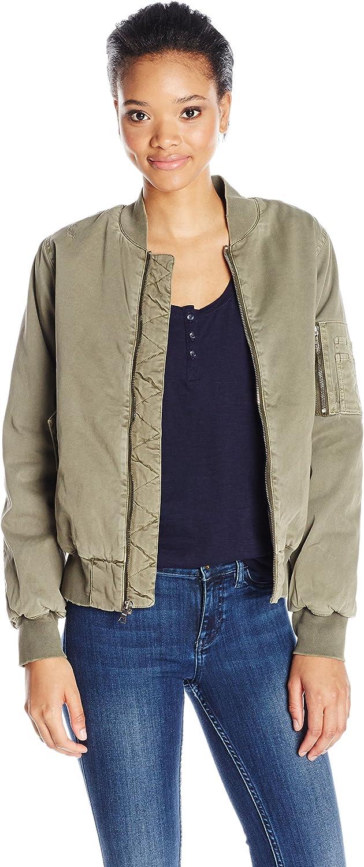 Hudson Jeans Womens Gene Puffy Bomber Jacket