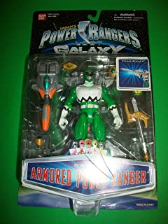 Power Rangers Lost Galaxy Green Armored Ranger LG Action Figure MOSC MOC NEW