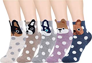 Calcetines de Mujer Coloreados Algodón Calcetines Patrón de Búho Adulto Unisex Calcetines Térmicos