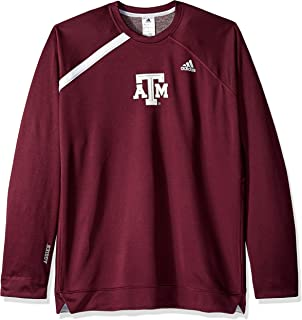 adidas NCAA Texas A&M Aggies Mens On Court L/S Shooting Shirton Court L/S Shooting Shirt, Maroon, Large