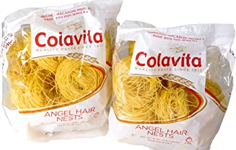 Colavita Imported Italian Angel Hair Capellini 100% Semolina Pasta Nests ( 2 packs of 16 Oz each )