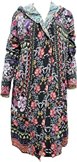 Johnny Was Flower Fields Duster Jacket with Hood - C50218
