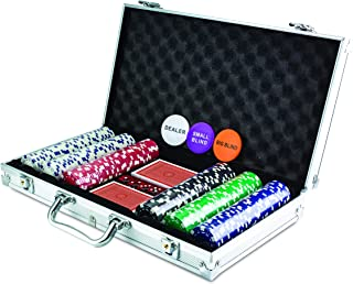 KOVOT 300 Chip Dice Style Poker Set In Aluminum Case (11.5 Gram Poker Chips)