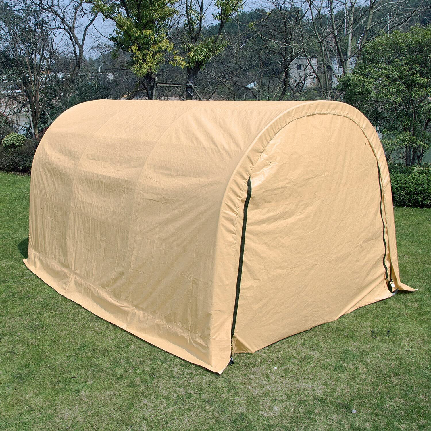 HUIJK specialty shop Storage Sheds 10x15ft Wood Haystack Outdoor Cover 2021 autumn and winter new