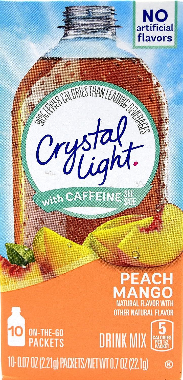 Crystal Light On The Austin Mall Go Peach Drink Mix Caffeine New Orleans Mall With Mango 10-