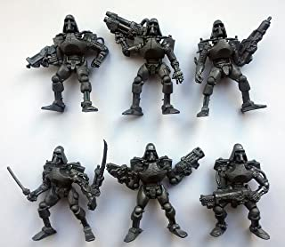 Fantasy Battles Cyborgs Endoskeleton 54 mm 1/32 - 6 Fantasy Sci-Fi Tehnolog Russian Toy Soldiers