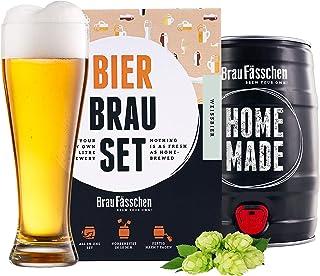 braufaesschen   Bierbrauset zum selber brauen   Weißbier im 5L Fass   In 7 Tagen gebraut   Tolles Geburtstagsgeschenk aus München Bayern