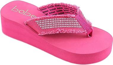 Bobee Women's Fashion Platform Wedge Thong Flip Flops Sandals
