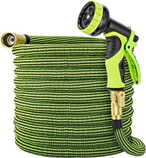 Eleegan Garden Hose 50 ft Water Hose with 10 Function Nozzle, Leakproof Flexible Expandable Hose with Solid Brass Fittings...