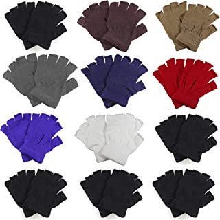 Gelante Classic Adult Winter Fingerless Knitted Magic Gloves Wholesale Lot 12 Pairs