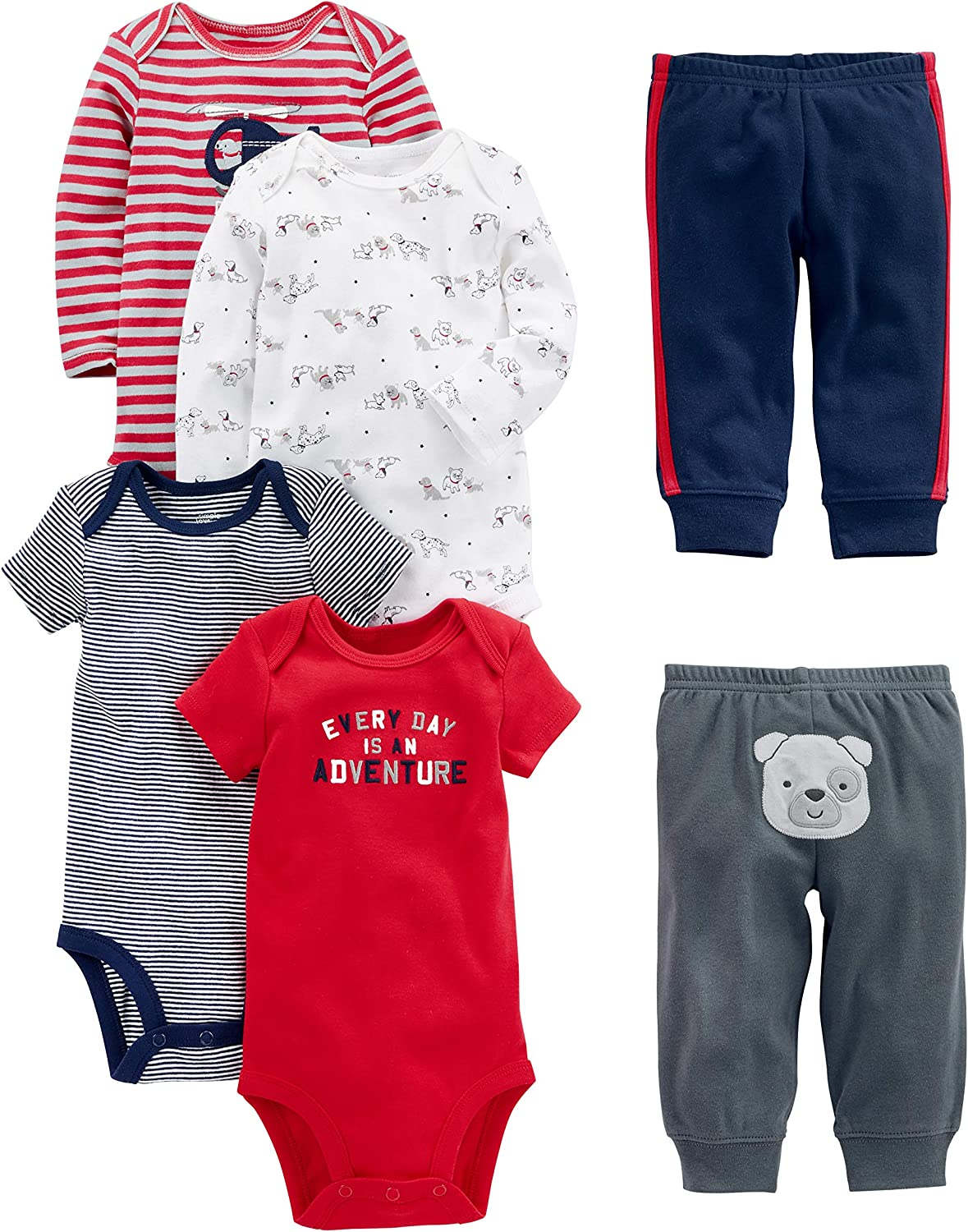 Simple Joys by Carter's Boys' Las Vegas Mall Bodysuits 5% OFF 6-Piece Long and Short