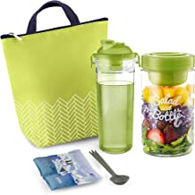 Komax Lunchmate Insulated Lunch Bag For Women - Thermal Lunch Box Kit: Salad Container (1000ml), Fruit Infuser Water Bottl...