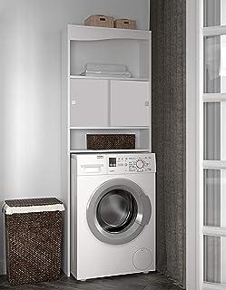 TemaHome WC-Machine à Laver-Corps Blanc-Façade Blanche/6090A2121A17