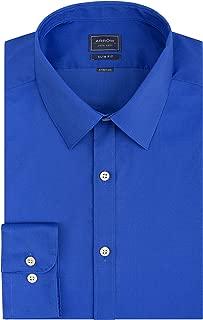 Arrow Men's Stretch Slim Fit Solid Point Collar Dress Shirt