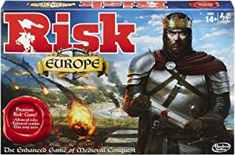 Risk Europe Strategy Board Game by Hasbro - Perfect Game for the Entire Family - Multiplayer Conquest of 7 Unique Kingdoms - Accept Secret Missions, Fight Battles, Take Over Medieval Europe