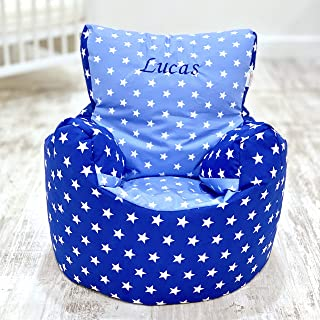 Childrens Kids Toddler PRE Filled Personalised Bean Bag Chair SEAT Girls  Next Day Dispatch