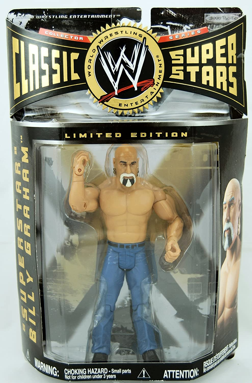 World Wrestling Entertainment Classic Superstar Limited Edition - Billy Graham in Blau Jeans by Jakks Pacific