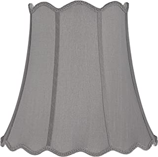 Morell Gray Scallop Bell Lamp Shade 10x16x16 (Spider) - Springcrest