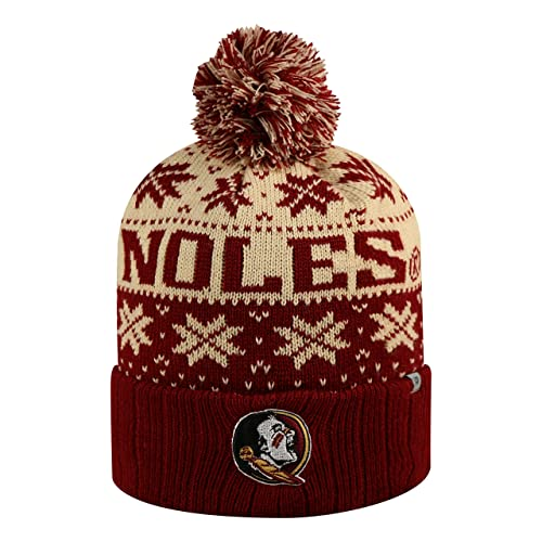 1243b57684ecd Florida State Seminoles Subarctic Cuffed Pom Knit Beanie Hat   Cap