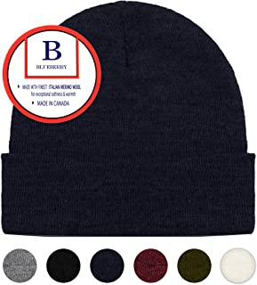 836e4f6fa1d Blueberry Uniforms Merino Wool Beanie Hat -Soft Winter and Activewear Watch  Cap