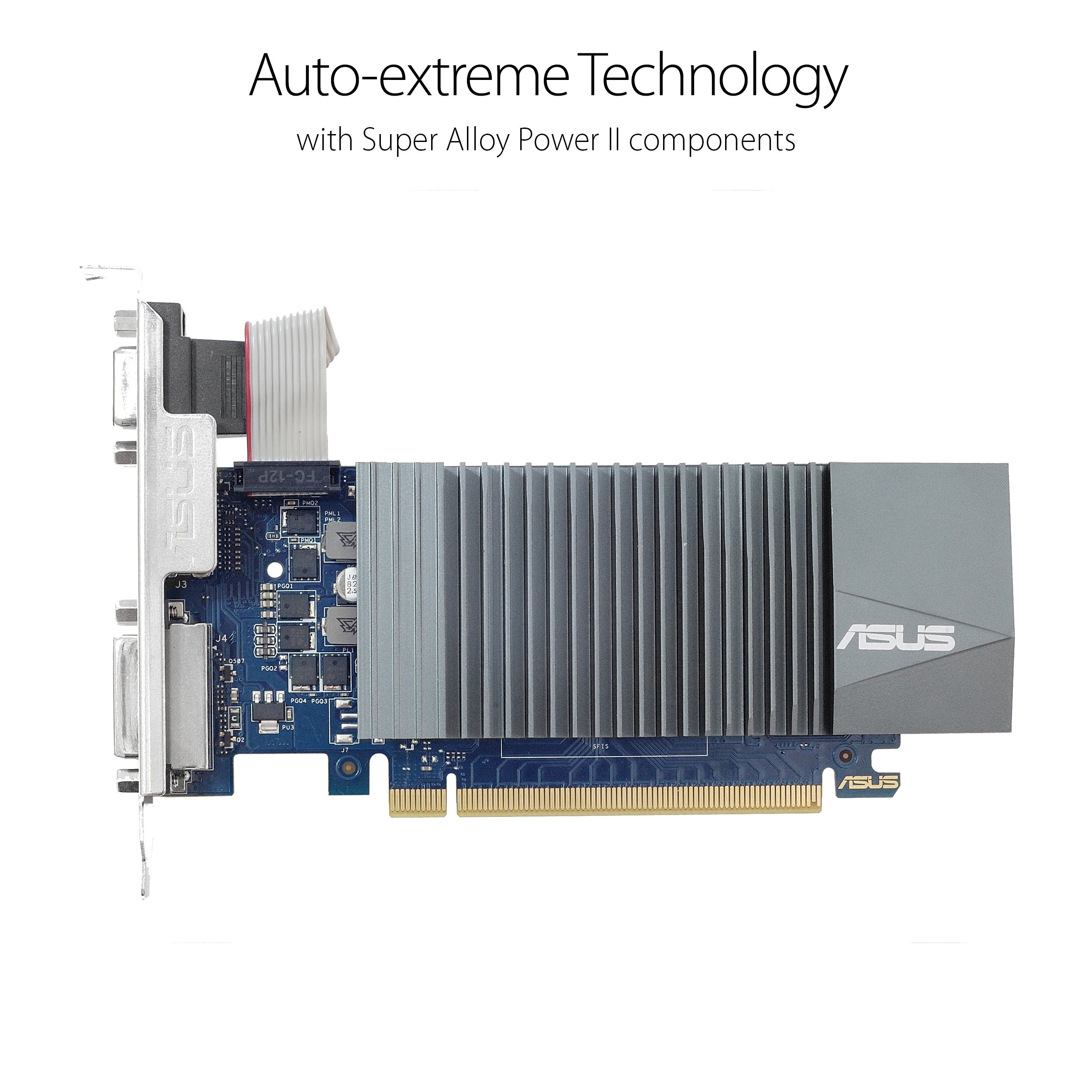 Asus GeForce GT 710 1GB GDDR5 HDMI VGA DVI Graphics Card (GT710-SL-1GD5-BRK) GT 710 1GB DDR5 Low Profile GT 710